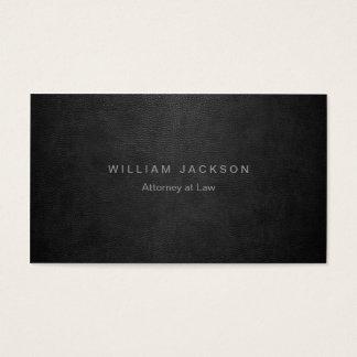 Cartes De Visite Simili cuir noir