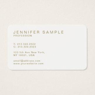 Cartes De Visite Simple élégant élégant moderne simple d'or blanc