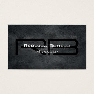 Cartes De Visite Simple simple minimaliste de monogramme gris à la