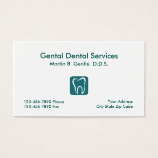 Cartes de visite simples de dentiste