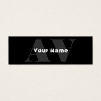 Cartes de visite simples de monogramme