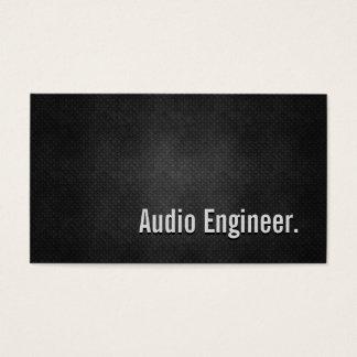 Cartes De Visite Simplicité audio en métal de noir de cool