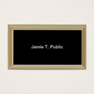 Cartes De Visite Simplicité : Cadre d'or, arrière - plan noir