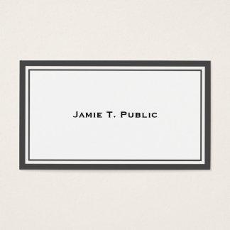Cartes De Visite Simplicité : Cadre gris et blanc, arrière - plan