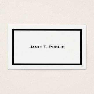 Cartes De Visite Simplicité : Cadre noir de bande, arrière - plan