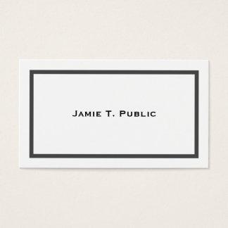 Cartes De Visite Simplicité : Cadre réuni par gris, arrière - plan