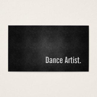 Cartes De Visite Simplicité en métal de noir de cool d'artiste de