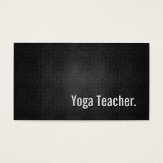 Cartes De Visite Simplicité en métal de noir de cool de professeur