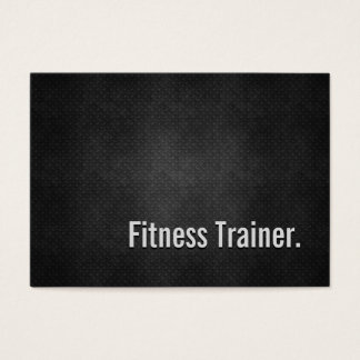 Cartes De Visite Simplicité en métal de noir de cool d'entraîneur