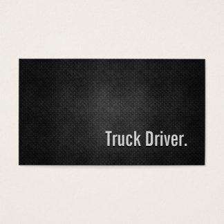 Cartes De Visite Simplicité noire fraîche en métal de chauffeur de