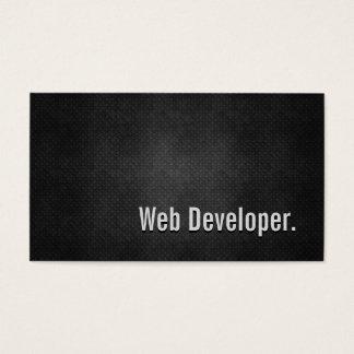 Cartes De Visite Simplicité noire fraîche en métal de développeur
