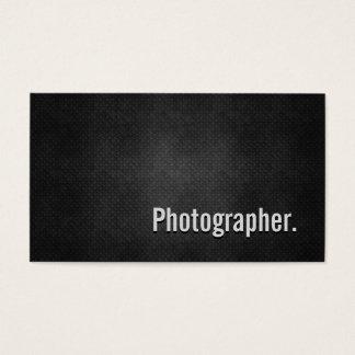Cartes De Visite Simplicité noire fraîche en métal de photographe