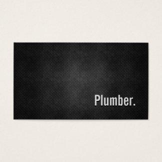 Cartes De Visite Simplicité noire fraîche en métal de plombier