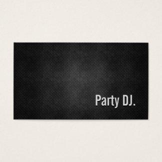 Cartes De Visite Simplicité noire fraîche en métal du DJ de partie