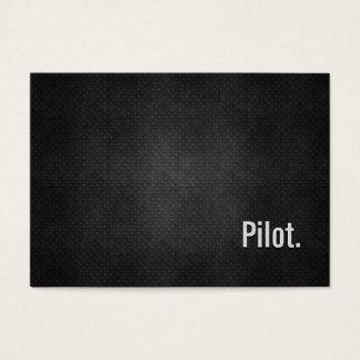 Cartes De Visite Simplicité noire fraîche pilote en métal