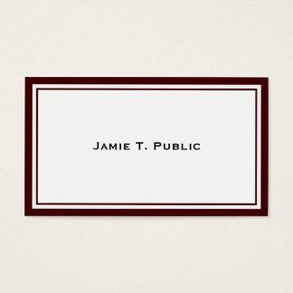 Cartes De Visite Simplicité : Vin et cadre blanc, arrière - plan