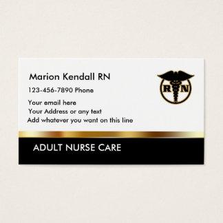 Cartes De Visite Soin adulte chic d'infirmière