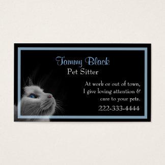 Cartes De Visite Soin des animaux familiers élégant de joli chat