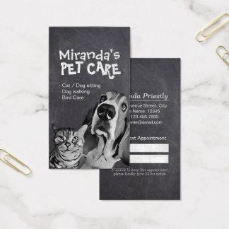 Cartes De Visite Soin des animaux familiers se reposant toilettant