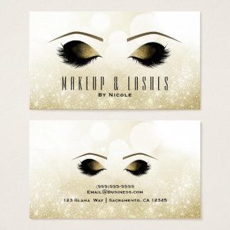 Cartes De Visite Spa de beauté de cils de maquillage d'étincelle de