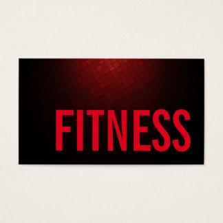 Cartes De Visite Sports personnels rouges brunâtres d'entraîneur de