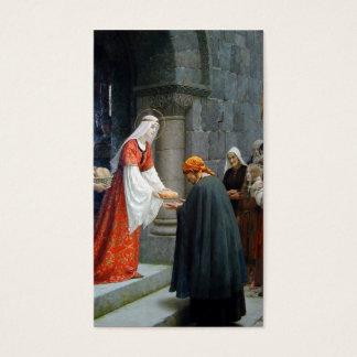Cartes De Visite St Elizabeth de la Hongrie alimente les pauvres