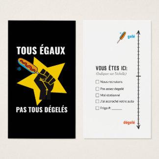 Cartes De Visite Stationnement/parking mal parké auto humour Québec