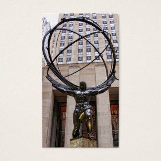 Cartes De Visite Statue d'atlas, centre de Rockefeller, NYC