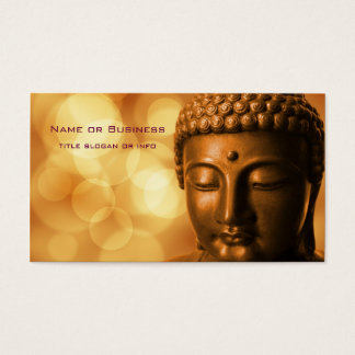 Cartes De Visite Statue en bronze de Bouddha avec l'arrière - plan