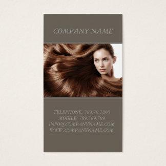 Cartes De Visite Styliste de femme de modèle de cheveux de Brown de