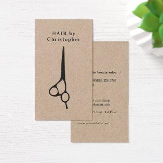 Cartes De Visite Styliste en coiffure élégant frais de ciseaux de