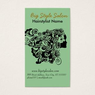 Cartes De Visite Styliste en coiffure floral de spa de salon de