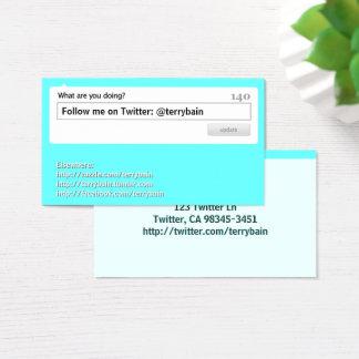 Cartes De Visite Suivez-moi des médias sociaux
