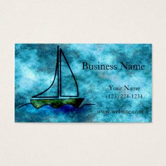 Cartes De Visite Sur le voilier orageux de mers