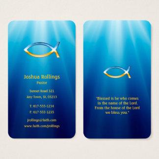 Cartes De Visite Symbole chrétien | de poissons inspiré