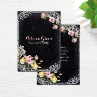 Cartes De Visite Tableau floral botanique vintage chic minable
