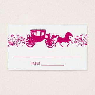 Cartes De Visite Tableau rose Placecards de mariage de cheval et de