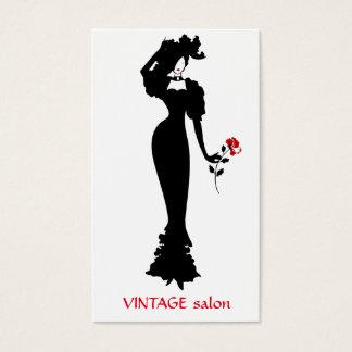 Cartes De Visite Tailleur de mode, style de cru de couturière