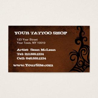 Cartes De Visite Tatouage PERSONNALISABLE Brown AVANT JÉSUS CHRIST