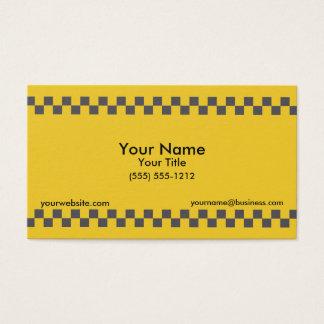 Cartes De Visite Taxi Checkered