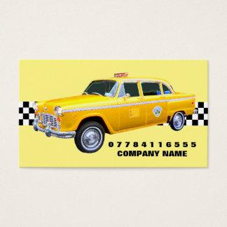 Cartes De Visite Taxi et bande américains de jaune de style de