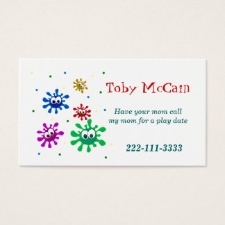 Cartes De Visite Télécarte colorée d'enfants