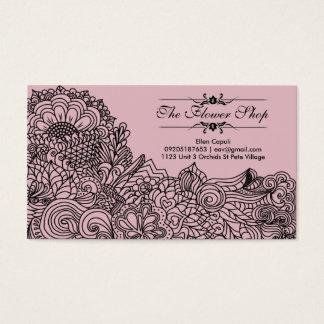 Cartes De Visite Télécarte de boutique de fleur