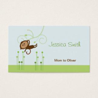 Cartes De Visite Télécarte de maman de singe