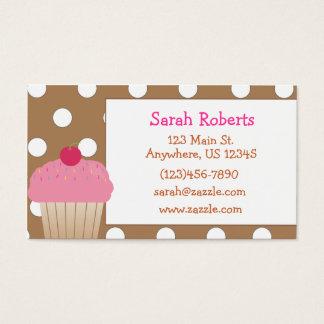 Cartes De Visite Télécarte de point de polka de petit gâteau