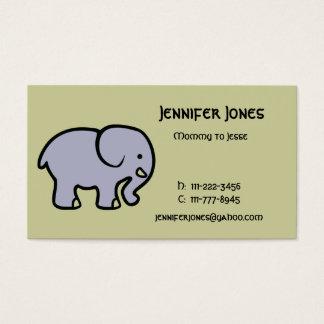 Cartes De Visite Télécarte d'éléphant
