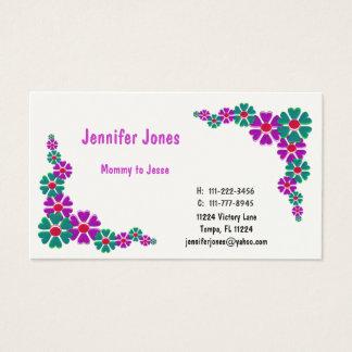 Cartes De Visite Télécarte florale colorée