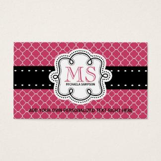 Cartes De Visite Télécarte Girly assez rose de dames de mod