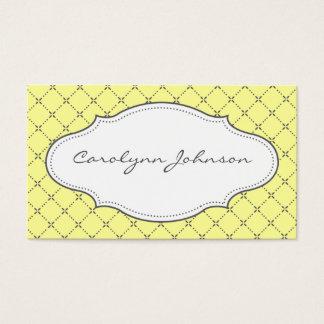 Cartes De Visite Télécarte jaune et par gris modelée