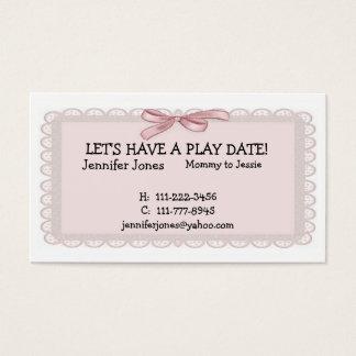 Cartes De Visite Télécarte rose de date de jeu